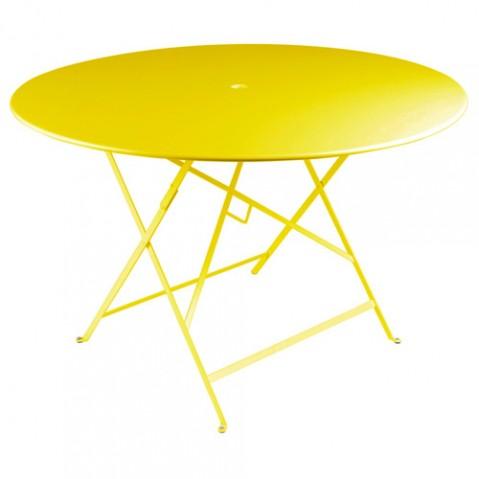table ronde 117 bistro fermob citron