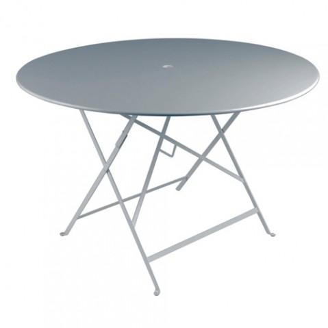 table ronde 117 bistro fermob gris orage