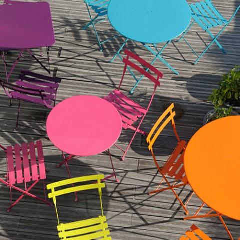 table pliante bistro 77 fermob coquelicot