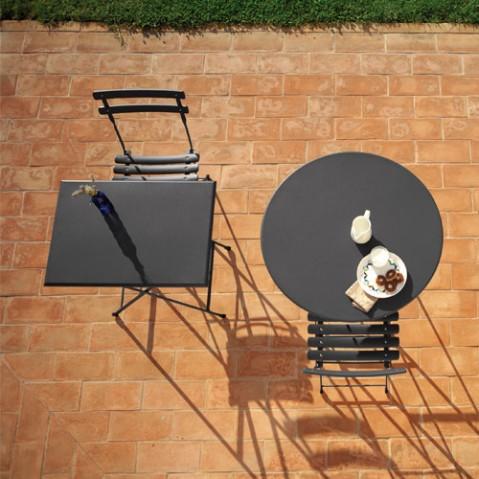 table ronde pliante arc en ciel emu blanc