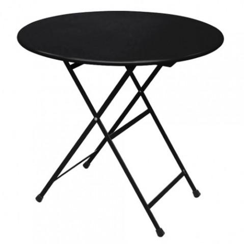 table ronde pliante arc en ciel emu noir