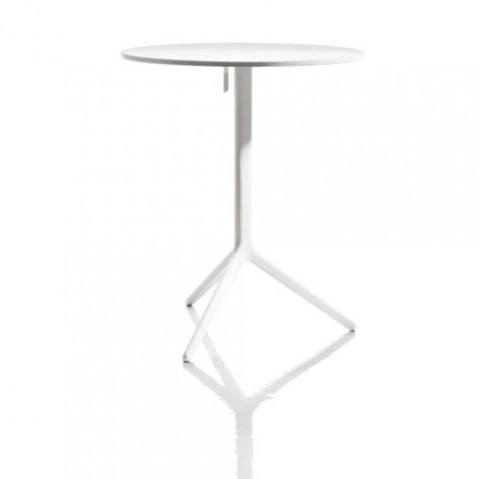 table ronde central magis verni blanc