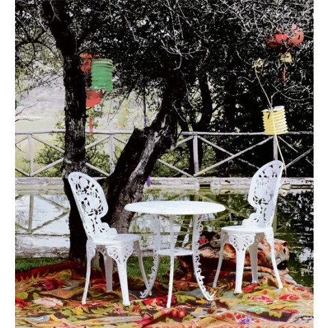 table ronde industry garden seletti rouge