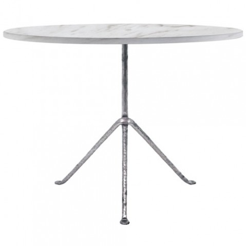 table ronde officina 80 magis galvanise marbre