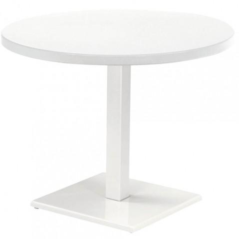table ronde round emu blanc