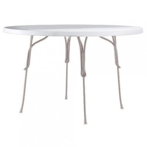 table ronde 120 vigna magis gris chaud