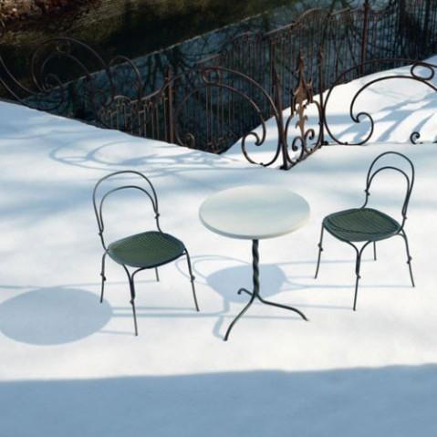 table ronde 60 vigna magis gris chaud