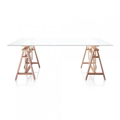 table treteaux teatro magis plateau blanc