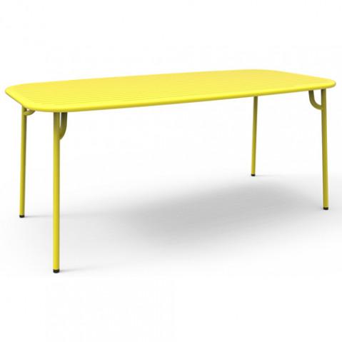 TABLE 180X85 WEEK END, 4 couleurs de PETITE FRITURE