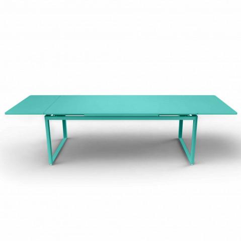 TABLE A RALLONGES BIARRITZ BLEU LAGUNE de FERMOB
