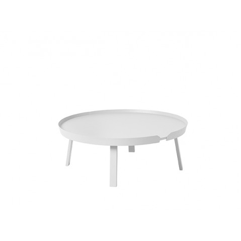 TABLE BASSE AROUND DE MUUTO, EXTRA LARGE, BLANC