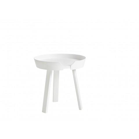 TABLE BASSE AROUND DE MUUTO, SMALL, BLANC