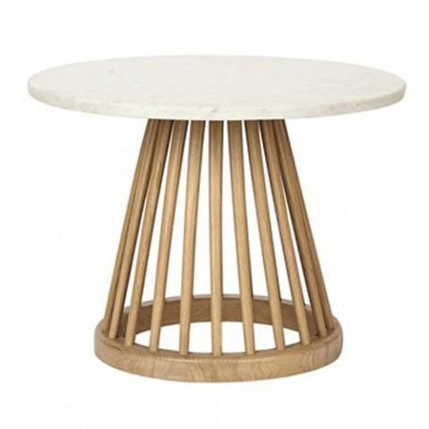TABLE BASSE FAN DIAM, 2 tailles, 2 couleurs de TOM DIXON