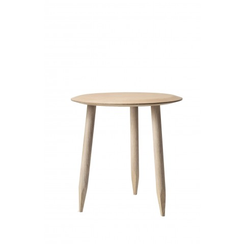 TABLE BASSE HOOF DE &TRADITION, Ø50cm, WHITE OILED OAK