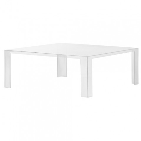 TABLE BASSE INVISIBLE H.31,5 DE KARTELL, BLANC BRILLANT