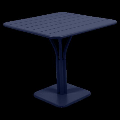 TABLE LUXEMBOURG 80X80CM 1 PIED BLEU ABYSSE de FERMOB