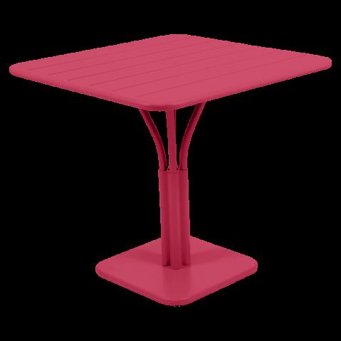TABLE LUXEMBOURG 80X80CM 1 PIED ROSE PRALINE de FERMOB