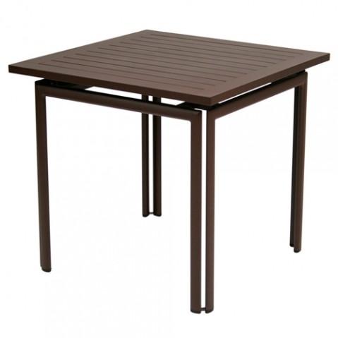 TABLE COSTA 80X80CM, 23 couleurs de FERMOB