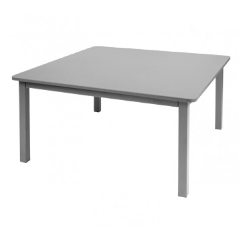 TABLE CRAFT 143X143CM GRIS METAL de FERMOB