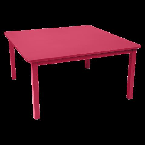 TABLE CRAFT 143X143CM ROSE PRALINE de FERMOB
