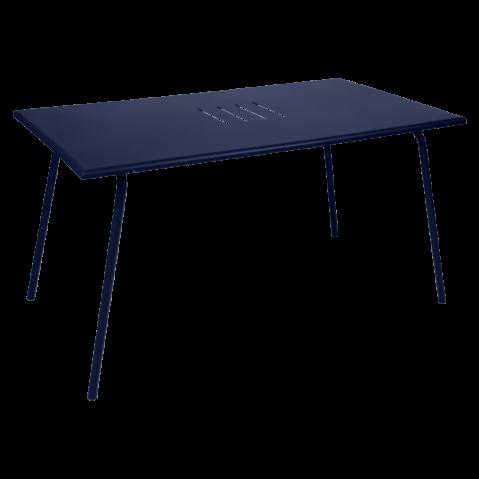 TABLE MONCEAU 146X80X74 BLEU ABYSSE de FERMOB