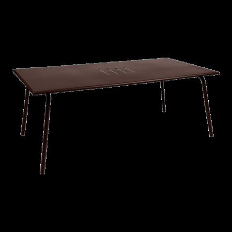 TABLE MONCEAU 194X94X74 ROUILLE de FERMOB
