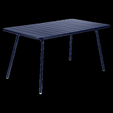 TABLE LUXEMBOURG 143X80CM BLEU ABYSSE de FERMOB