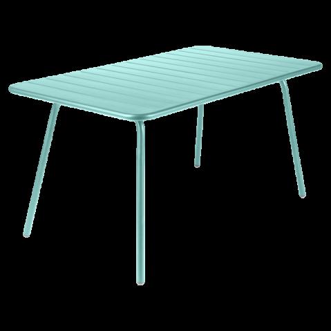 TABLE LUXEMBOURG 143X80CM BLEU LAGUNE de FERMOB