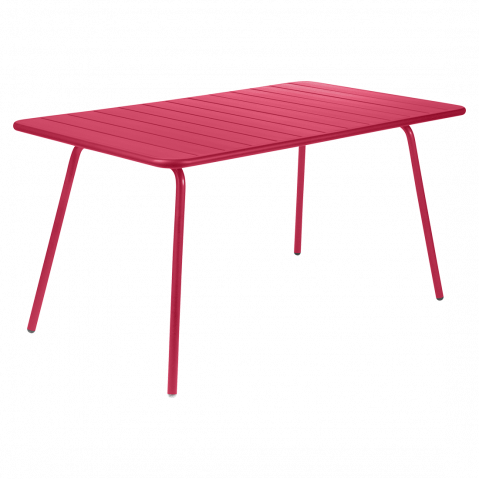 TABLE LUXEMBOURG 143X80CM ROSE PRALINE de FERMOB