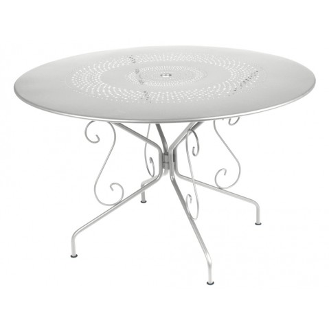 TABLE MONTMARTRE 117CM GRIS METAL de FERMOB