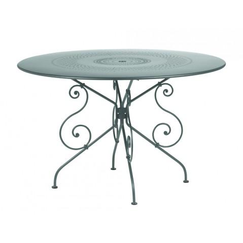 TABLE MONTMARTRE 117CM GRIS ORAGE de FERMOB
