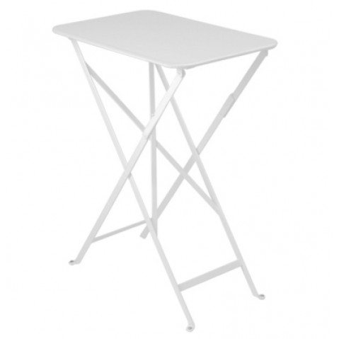 TABLE PLIANTE BISTRO 37 X 57CM BLANC COTON de FERMOB