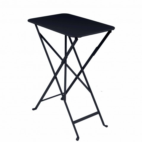 TABLE PLIANTE BISTRO 37 X 57CM CARBONE de FERMOB