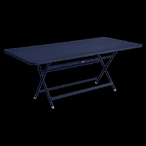 TABLE RECTANGULAIRE CARACTERE BLEU ABYSSE de FERMOB