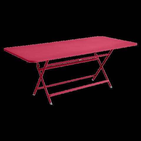 TABLE RECTANGULAIRE CARACTERE ROSE PRALINE de FERMOB
