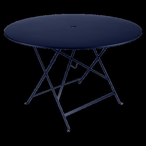 TABLE PLIANTE BISTRO 117CM BLEU ABYSSE de FERMOB