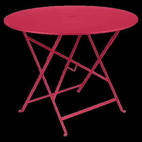 TABLE PLIANTE BISTRO 96CM ROSE PRALINE de FERMOB