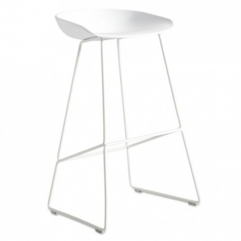 tabouret about a stool aas 38 65 hay blanc