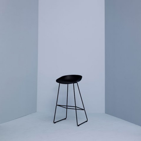 tabouret about a stool 65 metal hay noir blanc