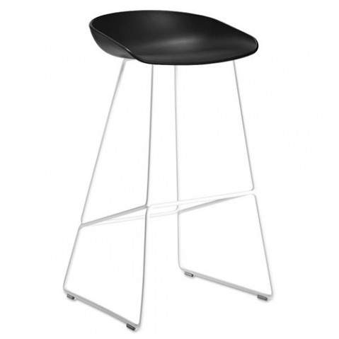 tabouret about a stool 65 hay blanc noir