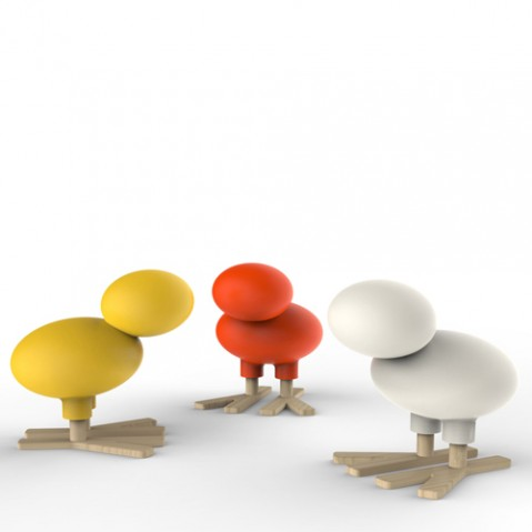 tabouret enfant happy bird magis me too blanc