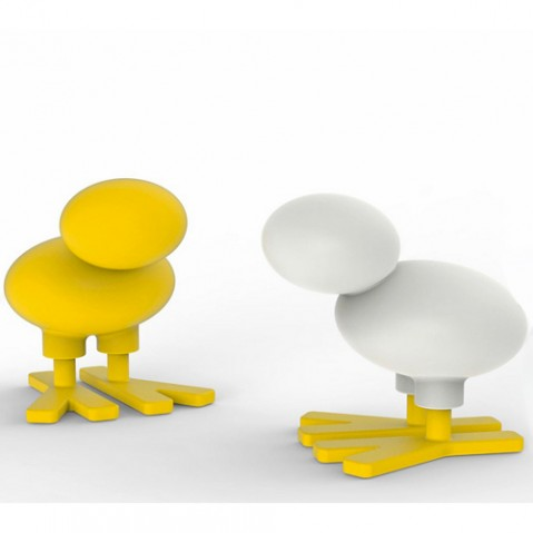 tabouret enfant happy bird small magis me too jaune blanc