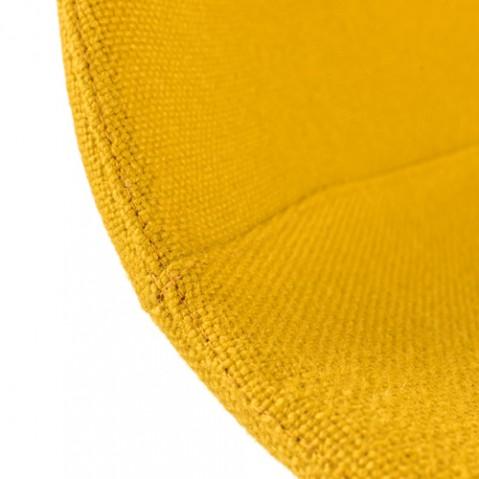 tabouret haut 75 miunn la palma tissu jaune