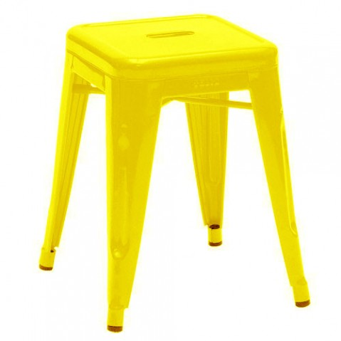 tabouret tolix 45 jaune 1018