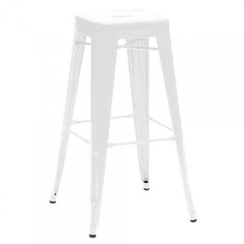 tabouret h75 blanc laque de tolix. Black Bedroom Furniture Sets. Home Design Ideas