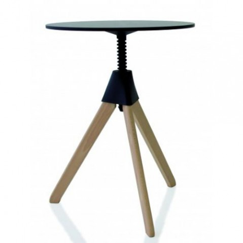 table topsy magis hetre naturel noir