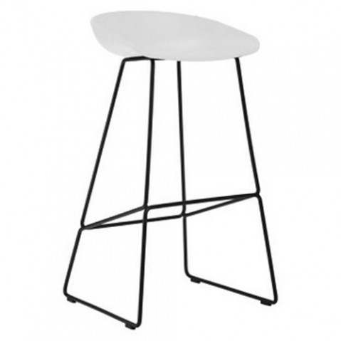 TABOURET ABOUT A STOOL AAS38 H 65, 2 options, 2 couleurs de HAY