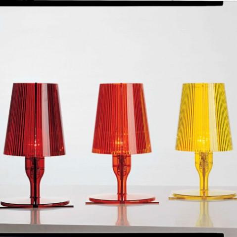 lampe a poser take orange de kartell. Black Bedroom Furniture Sets. Home Design Ideas