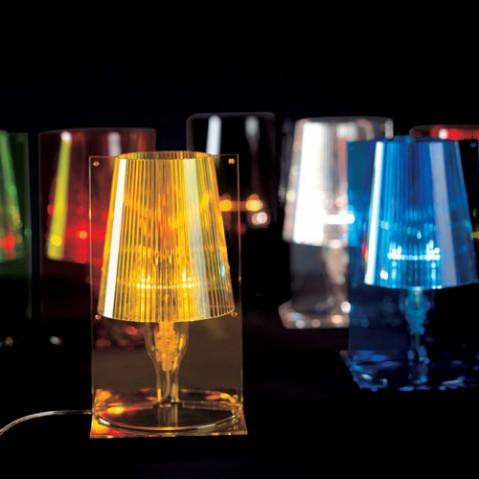 lampe poser take kartell bleu