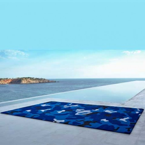 tapis exterieur camo vondom bleu